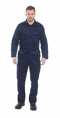$30.88 • Buy Portwest S999 Euro Polycotton Multipocket Work Coverall With Front Snap Closure