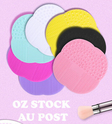 AU4.25 • Buy Makeup Cosmetic Brush Cleaner Cleanser Washing Silicone Pad Mat Scrubber Board