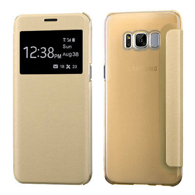 $ CDN13.03 • Buy For Samsung Galaxy Note 8 Window Screen Leather Flip Wallet Case Thin Cover Gold
