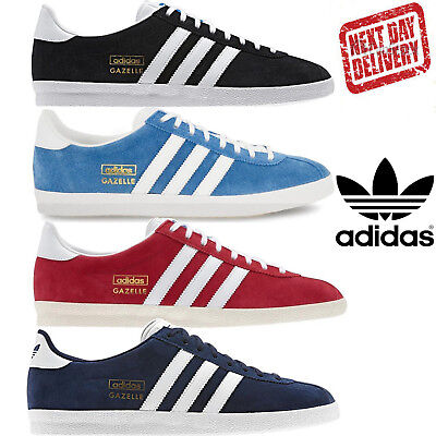 $ CDN93.71 • Buy Adidas Original Gazelle OG Classic Casual Retro Trainers Red Black Blue Shoes UK