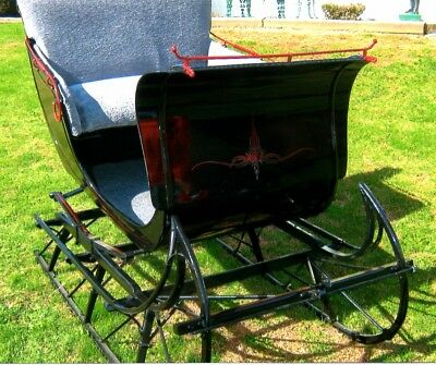 $4499 • Buy RESTORED AntiqueHorse-Drawn Cutter Sleigh By Fisher Body Company(w/ Shafts)