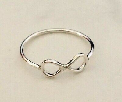 AU9.99 • Buy 925 Sterling Silver Infinity Eternity Love Ring Size 5 6 7 8 9 10 11 Stackable