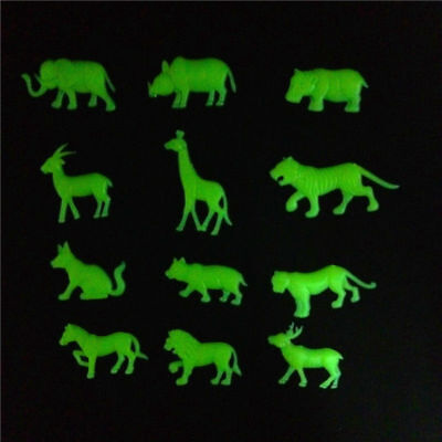 £1.49 • Buy 12pc Animals Glow In The Dark  Wall Sticker Lion Tiger Home Decor Baby Kid  Room