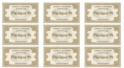 24 Harry Potter Hogwarts Train Tickets Edible Cupcake Toppers • 3.99£