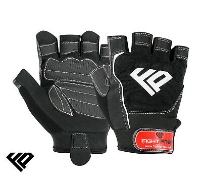 £5.99 • Buy FP Gel Weight Lifting Body Building Fitness Gloves Gym Straps Training Leather