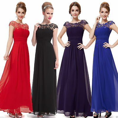 Ever-Pretty Party Chiffon Long Bridesmaid Dresses Evening Prom Dress Gown 09993 • 24.99£
