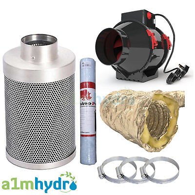 £79.95 • Buy Rhino Carbon Filter Kit Hybrid Flo Fan Ducting Extraction System Hydroponics