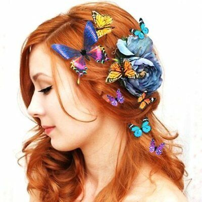 $ CDN3.44 • Buy 10 Pcs Butterfly Hair Clips Bridal Hair Accessories Wedding Photography Costume