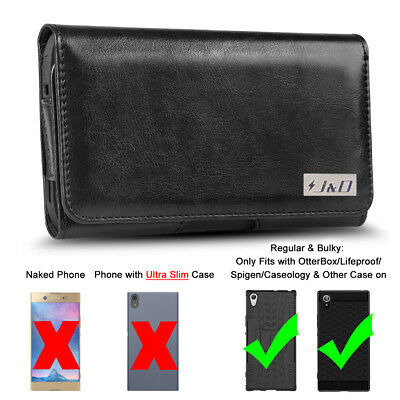 AU12.70 • Buy J&D Sony Xperia XA1 Ultra PU Leather Holster Pouch Case With Belt Clip