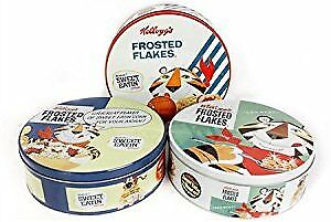 £8.99 • Buy Retro Vintage Kellogg's Frosted Flakes Storage Biscuit Tins- Randomly Selected