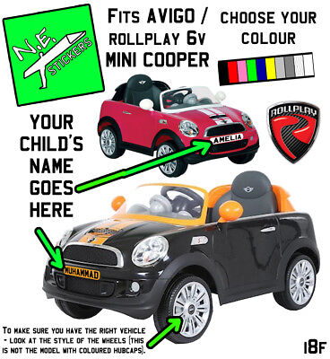 FRONT (+back?) Kids Number Plate For Rollplay ELECTRIC 6v MINI Cooper COUPE Car • 0.99£