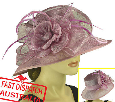 AU58.80 • Buy Melbourne Cup Race Carnival Wedding Church Party Derby Day Hat LILAC PURPLE