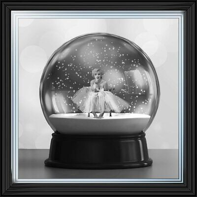Marilyn Monroe Ballerina Globe With Crystals,liquid Art & Mirror Frame Pictures. • 189.99£
