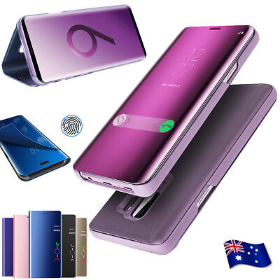 AU9.99 • Buy Samsung S20+ FE Note 20 Ultra S10+ S9+ S8 Case View Mirror Flip Shockproof Cover