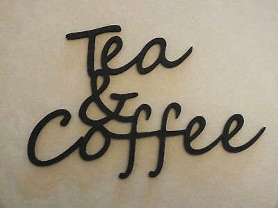 £4.99 • Buy Wooden Wall  Tea & Coffee  Plaque Words/Letters Home/sign Black Or Unpainted.