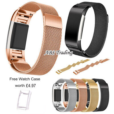 $ CDN22.11 • Buy Magnetic Milanese Stainless Steel Watch Band Strap For Fitbit Charge 2 - 2 Sizes