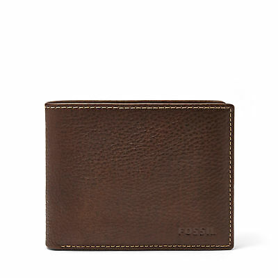 $34.99 • Buy Fossil Men's LEATHER LINCOLN BIFOLD PASSCASE Wallet Brown ML3657200 A
