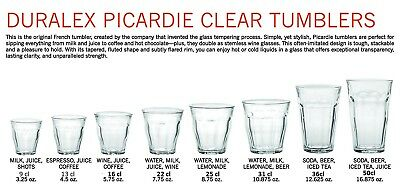 £6.99 • Buy Duralex Picardie Tumblers - Drinking Glass - Strong Glass
