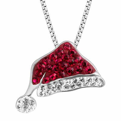 $ CDN49.03 • Buy Crystaluxe Santa Hat Pendant With Swarovski Crystals In Sterling Silver
