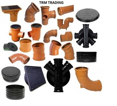 Underground Drainage 110mm, Pipe & Fittings, Bends,Traps & More Available    • 3.99£
