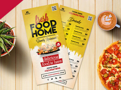 Takeaway Menu Design,Folded Leaflet A4 To A5 Fold, A4 Tri Fold, • 74.95£