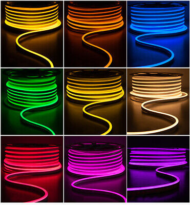 LED Flexible Neon Rope Light Room Party Commercial Lighting Strip Outdoor 110V • 169.93$