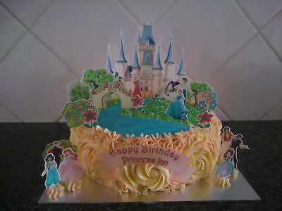 £3.99 • Buy Inspired By Princess Personalised Castle Scene Wafer Edible Cake Decoration Set