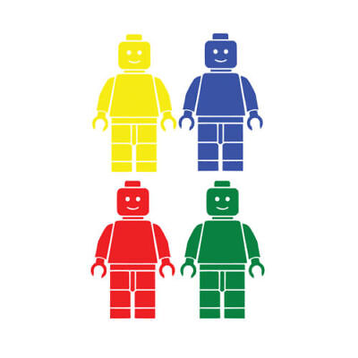 4 X Lego Man Set Children's Vinyl Wall Art Sticker Decal Bedroom Home Decor 017  • 3.39£
