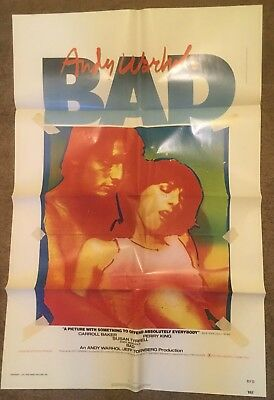 $59.99 • Buy Original BAD Movie Poster 1 Sheet Andy Warhol 1977 CARROLL BAKER