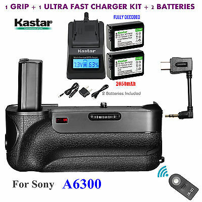 $ CDN107.81 • Buy Battery Grip, NP-FW50 Battery, Charger For Sony ILCE-A6300  A6300 Digital SLR