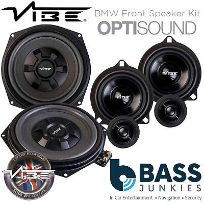 Vibe BMW 5 Series F10/F11 8  Underseat Car Subs & Front Door Speaker Upgrade Kit • 309.99£
