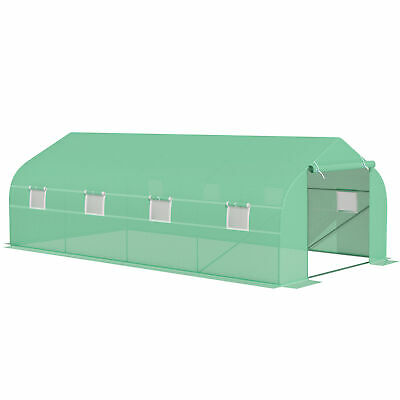 Outsunny Poly Tunnel Walk In Peak Top Greenhouse Garden Planting 6 X 3 X 2M Tent • 109.99£