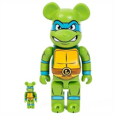 $185 • Buy Medicom BE@RBRICK TMNT Leonardo 100% 400% Bearbrick Figure Set