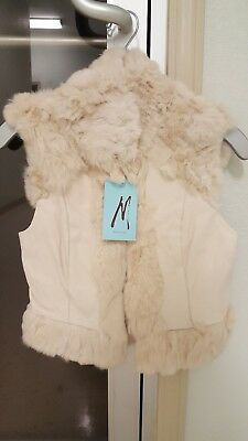 £57.68 • Buy Marciano Vest With 100% Rabbit Fur And Lamb Skin. **look**