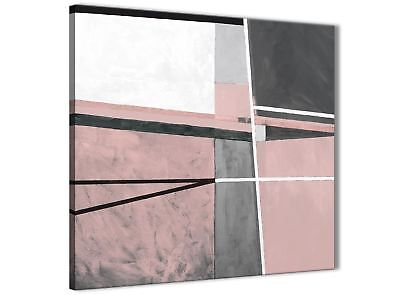 Blush Pink Grey Painting Bathroom Canvas Accessories - Abstract 1s393s - 49cm • 24.99£