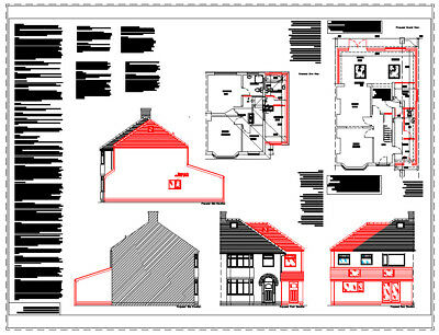 Updated For 2020 Two Storey Extension Cad Plans For Planning & Building Regs • 9.99£
