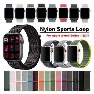 AU11.19 • Buy Woven Nylon Sport Loop Wristwatch Straps For Apple Watch Band Series 5 4 3 2 1