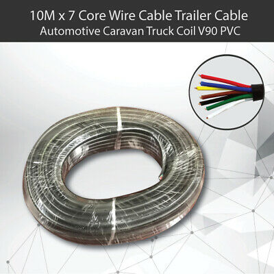 AU24.15 • Buy 10M X 7 Core Wire Cable Trailer Cable Automotive Boat Caravan Truck Coil V90 PVC