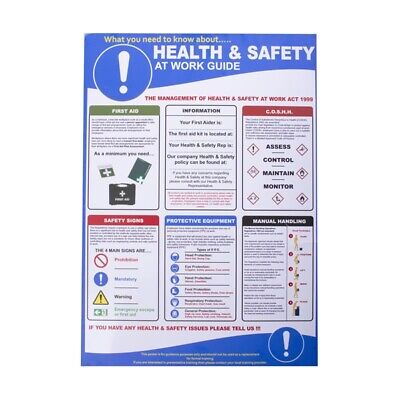£15.35 • Buy Health And Safety At Work Poster