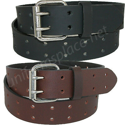 $16.99 • Buy Dickies Leather Belt Mens 1.5  Leather Double Prong Bridle Belt Black, Brown
