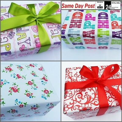 £1.99 • Buy Gift Wrapping Paper High-quality 4 Meters 8 M 16 M Party Christmas