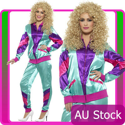 AU39.42 • Buy 80s Height Of Fashion Purple Shell Suit Tracksuit 1980s Womens Ladies Costume