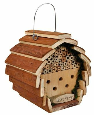 £8.19 • Buy Kingfisher HOTEL2 Wooden Insect And Bee Hotel Hanging Bug House - Brown