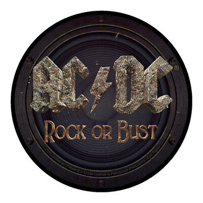 £3.95 • Buy ACDC Rock Or Bust Round Sew On Patch Badge Official 90mm Music Band