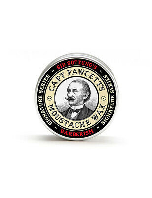 Captain Fawcett Barberism Moustache Wax Hair Styling Sid Sottung Barber 15ml Tin • 11£