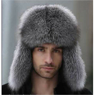 d401977c Mens Ushanka Winter Raccoon Fur Lamb Leather Russian Cossack Trapper Hats •  7.99$