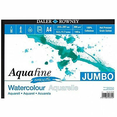 Daler Rowney - Jumbo Aquafine Smooth Watercolour Sketchbook - 300gsm - 50 Pages • 16.43£