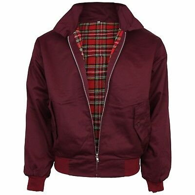 Relco Burgundy Harrington Jacket Skin Mod Scooter Ska Northern Soul XS - XXXL • 34.99£