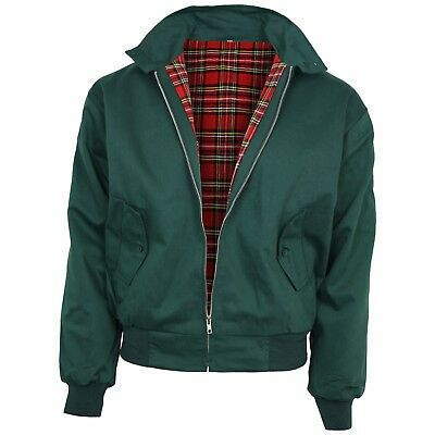 Relco Bottle Green Harrington Jacket Skin Mod Scooter Ska Northern Soul XS-XXXL • 34.99£