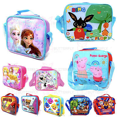 Kid's Insulated School Lunch Bag Avengers Spiderman LOL PJ Masks Toy Story Box • 8.95£
